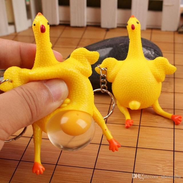 خرید عروسک مرغ ضد استرس تخم گذار